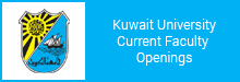 Kuwait University Current Faculty Openings