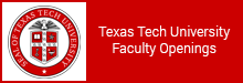 Texas Tech University Faculty Openings